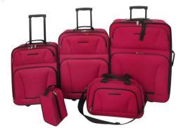 vidaXL 5 részes bőrönd szett (90154/90155)