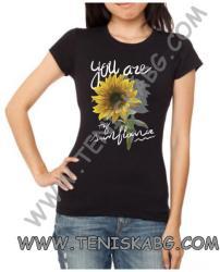 Fruit of the Loom Тениска - Sun flower