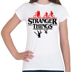 printfashion stranger things upside down 2 - Női póló - Fehér