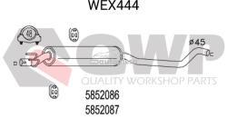 QWP Toba esapamet intermediara OPEL CORSA B (73, 78, 79) (1993 - 2002) QWP WEX444