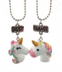 Best Friends Set 2 Lantisoare Cu Pandantive BestFriends BFF Unicorni m3 (bff534)