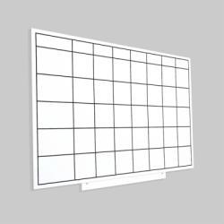Rocada Skinplanner magnetic, suprafata lacuita, sabloane magnetice, 75 x 115 cm Rocada RO6420UP