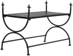 vidaXL Пейка, винтидж стил, метал, 83x42x55 см, черна (245940)