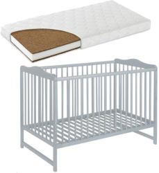 Casa Bebelusului Patut lemn Kinga Alb 120X60 cm cu saltea Komfort 8 cm gratuit copii, bebelusi PAK-Kinga-209