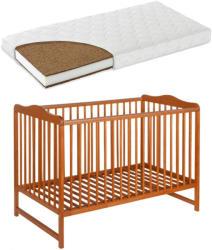 Casa Bebelusului Patut lemn Kinga Natur 120X60 cm cu saltea Komfort 12 cm gratuit copii, bebelusi PAK-Kinga-183