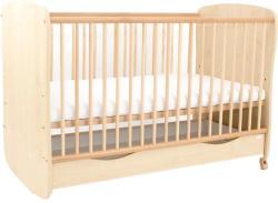 Casa Bebelusului Patut din lemn Rzv cu leganare 120x60 cm Natur