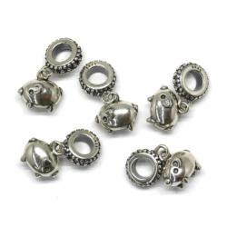 Charm Argint 925 Purcelus - 21 x 12 mm - 1 Buc