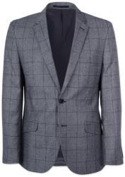 Willsoor Sacou bărbătesc clasic, de costum, în culoarea gri, cu model cadrilat 11534
