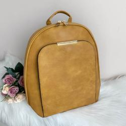 Жълта Кожена Раница - Модел b902