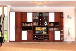 Spectral Mobila Biblioteca Iris Mahon/Vanilie varianta dreapta