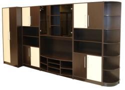 Spectral Mobila Biblioteca Iris Wenge/Vanilie varianta dreapta