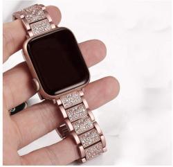 Apple Watch fém óraszíj kövekkel kirakva (többféle színben)