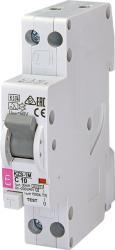 Eti KZS-1M Intrerupatoare de curent rezidual cu protecție la supracurent, 1 module, A and AC type KZS-1M 1p+N A C25/0.03 6kA (002175226)