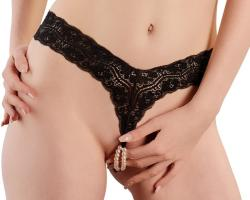Cottelli G-string with Pearls 2321866 Black L