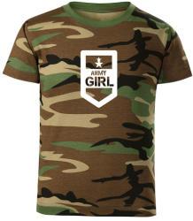 WARAGOD Tricou de copii scurt Army girl, camuflaj