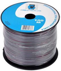 Cabletech Cablu difuzor CCA 2x0.16mm negru 1m Cabletech (KAB0350)