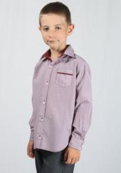 Rumena Kids Риза за момче в райе цвят бордо rumena