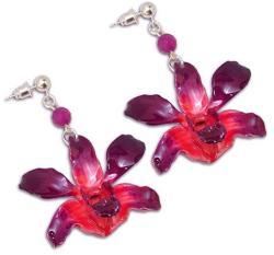 Dannyra Обици с цвят на орхидея Red orchid Dannyra Jewels