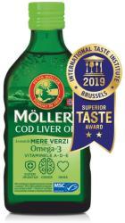 Moller's Ulei din ficat de cod Omega 3, Vitamina A-D-E, aroma mere verzi, 250 ml, Moller's