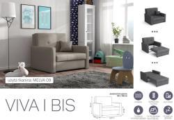 Meblohand VIVA BIS I. előre nyíló rugós fotelágy - mindigbutor