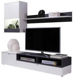 Ramely Mobilier living, alb/pin inchis, ROSO