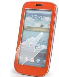 TFO Smart View oldalra nyíló bőrbevonatos hívás mutatós fliptok Apple iPhone 6 4.7, 6S 4.7-hez narancs (GSM009368)*