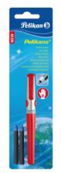 Pelikan Roller Pelikano Rosu Grip Pentru Stangaci 2 Rezerve Albastre Blister (972422)