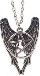 Supernatural Lantisor Cu Pandantiv Supernatural Pentagrama - Aripi Castiel (ZUMMED3121SUPER)