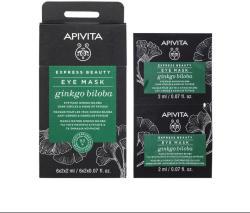 APIVITA Mască pentru APIVITA Express Beauty ochi cu GINGKO BILOBA pentru cearcăne și semne de oboseală 2 x2ml