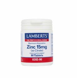 Lamberts Zinc 15mg (Citrate) 90 tablete - pharmacygreek