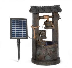 Blumfeldt Speyer, fontană cascadă, fontană solară, fontană de grădină, 4 niveluri, funcționare cu baterie (LEU13-Speyer)