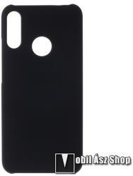 Műanyag védő tok / hátlap - Hybrid Protector - FEKETE - MOTOROLA Moto E6 Plus