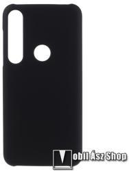 Műanyag védő tok / hátlap - Hybrid Protector - FEKETE - MOTOROLA Moto G8 Plus