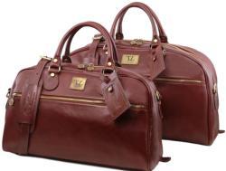 Сет кожена чанта и чанта за път magellan tl141258