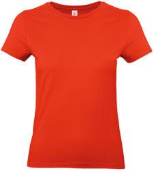 B and C Női rövid ujjú póló B&C #E190 /women T-Shirt -S, Tűzpiros