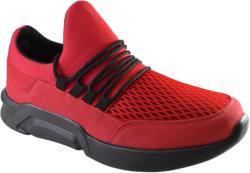 THEICONIC Pantofi Casual Barbati, Rosii din Panza, Talpa Neagra Usoara din Spuma