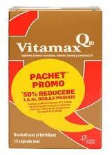Omega Pharma Vitamax Q10, 15 capsule + 15 capsule (40% reducere din a 2-a cutie), Omega Pharma (FSH1050)
