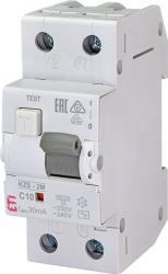 Eti KZS-2M Intrerupatoare de curent rezidual cu protecție la supracurent, 2 module, tip A și AC KZS-2M AC C10/0.03 (002173122)