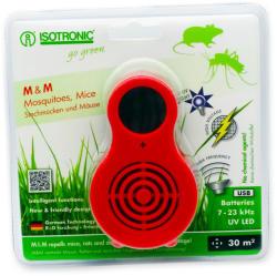 ISOTRONIC Aparat portabil cu UV( anti tantari, muste, purici, musculite de otet) si ultrasunete( anti soareci, sobolani) Isotronic MM 77010 30mp