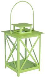 Decorer Felinar metal sticla verde Flaies ø 17 cm x 25 h (BI0140780)