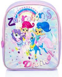 Shimmer & Shine Ghiozdan holografic , shimmer and shine , mov deschis , 32 cm