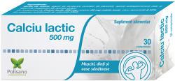 Polisano Calciu Lactic 500 mg, Polisano, 30 cpr