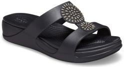 Crocs Papuci Crocs Monterey Diamante Slip-On Wedge Negru 36.5