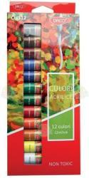 Daco Culori Acrilice 12 Pe Set, 12 Ml, Daco - Cu312