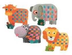 Egmont toys Set de tesut pentru copii, Animale Egmont (Egm_630535a)