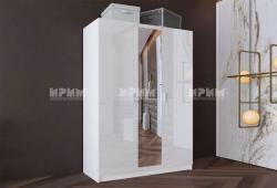 ИРИМ Трикрилен гардероб Сити 1026 - с огледало (5410)