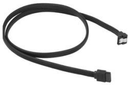Sharkoon Cablu Sharkoon SATA3, conector in unghi drept, 100cm, Black
