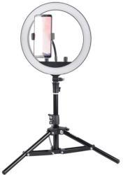 StudioKing Lampa circulara cu led reglabila Studio King SKRL10 cu stativ (set vlogger)