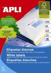 APLI Etichete autoadezive Apli, cu colturi drepte, A4, 210 x 297 mm, 100 bucati, 100 coli/top (AL11817)