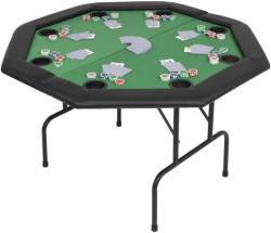 vidaXL Masă poker pliabilă în două părți, 8 jucători, octogonal, Verde (80211) - vidaxl